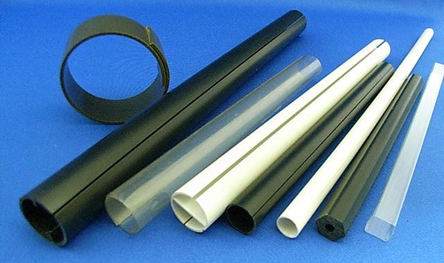 特殊パイプ 材質:PVC、PET、ABS等 材質 塩ビ、PET、ABS 特注パイプ